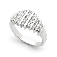 This elegant ring, so simple in a photo but surprises everyone when they try it on. It looks a million dollars! Rings For Men, Diamonds, Jewelry Design, Elegant, Simple, Bracelets, Silver, Beautiful, Classy