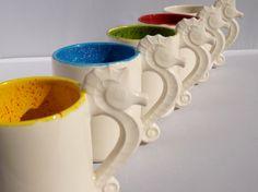 Seahorse  Mug Handmade Ceramic from my Charleston, SC Studio - pinned by pin4etsy.com