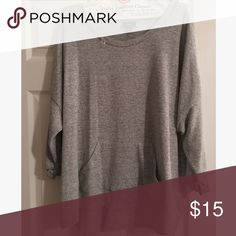 Comfy Hoodie Never worn and super cozy. Has some stretch to it! Is a little bit of a high low top. Can dress it up or down! Tops Sweatshirts & Hoodies