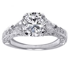 I really love vintage or antique engagement rings. Something about them makes me feel like they have a story or a story will be created and passed down.