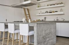 wow that concrete breakfast bar is just divine!
