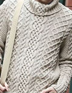 Вязание для мужчины джемпера с аранами Aran Knitting Patterns, Cable Knitting, Knitting Designs, Mens Fashion Sweaters, Men Sweater, Winter Sweaters, Cable Knit Sweaters, Knitwear, How To Wear