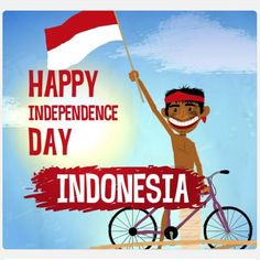 No photo description available. Independence Day Greetings, Independence Day Quotes, Independent Day, Indonesian Independence, Funny Monsters, Indonesian Art, Art N Craft, Original Wallpaper, Instagram Highlight Icons