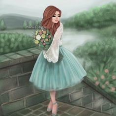 Discovered by ~Ä F Ï F Ä ~. Find images and videos about girly on We Heart It - the app to get lost in what you love. Beautiful Girl Drawing, Cute Girl Drawing, Cartoon Girl Drawing, Beautiful Fantasy Art, Girly M, Lovely Girl Image, Girls Image, Cute Cartoon Girl, Girly Drawings