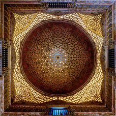 Ambassadors hall dome Alcázar of Seville