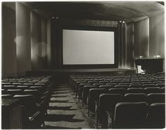 Diane Arbus, An Empty Movie Theater, NYC, 1971