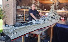 AMAZING BATTLESHIP USS MISSOURI BB-63 MADE FROM LEGOS!