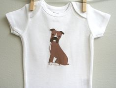 Baby clothes boxer. Long or short sleeve. by squarepaisleydesign, $15.00