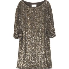 3.1 Phillip Lim Sequined Silk T-Shirt Dress found on Polyvore