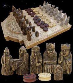 Jogo De Xadrez Viking (lewis Chess) Importado - R$ 550,00