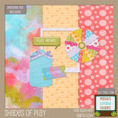 DigiScrap Addicts March Blog Hop: Shades of Play, and EXTRA special- template for her flower is also on her blog!!