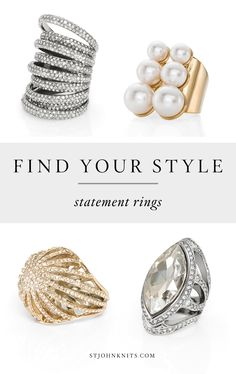 From casual to glamorous- St. John offers the perfect statement rings.