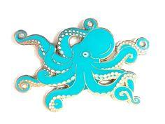 Blue Octopus Enamel Pin