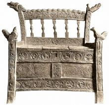 viking chair high seat from Iceland, hope they and a pillow on it!
