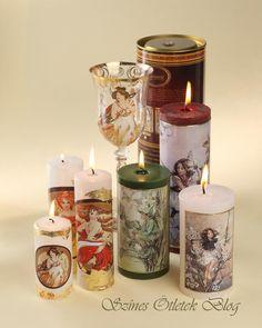 Art Noveau candles Art Forms, Pillar Candles, Your Favorite, Art Nouveau, Candle Holders, Jar, Christmas, Creativity, Lovers
