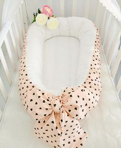 Babynest for Newborn Girl, Double-sided Snuggle Nest, Toddler Nest, Baby Nest, Cocoon, Co Sleeper, Sleep Bed, Cot, Baby Pillow, Baby Bedding ✈ ✈ ✈ READY TO SHIP!!! ✽ In our store You can buy baby nest in these sizes - BABY SIZE (the sleeping area 70*32 cm) - TODDLER SIZE (the