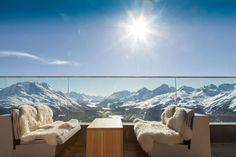 The Romantik Hotel Muottas Muragl is located in the Engadin St. First plus-energy hotel in the Alps, metres. W Hotel, Hotel Chalet, Hotel Lobby, Downton Abbey, Saint Moritz, Hotel In Den Bergen, Travel Around The World, Around The Worlds, Switzerland Hotels