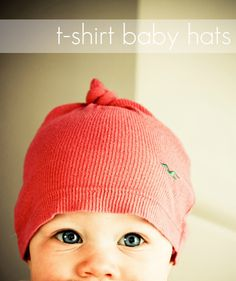 Easy t-shirt baby hats