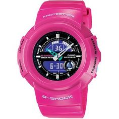 AW582SC Ana-Digi series is a new wave of 80's coloring. Pink resin band with black face.