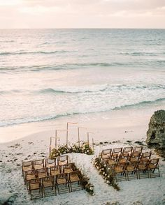 Destination wedding beach ceremony via Small Beach Weddings, Boho Beach Wedding, Beach Wedding Inspiration, Summer Wedding, Dream Wedding, Wedding Hair, Wedding Ideas, Wedding Pictures, Romantic Beach