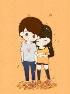 anita mahanta · cute couple cartoon world Art Love Couple, Love Cartoon Couple, Cute Couple Comics, Chibi Couple, Cute Couple Drawings, Anime Love Couple, Cute Anime Couples, Cute Drawings, Cute Love Wallpapers