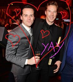 Just. Yes. <3 | These Photos Of Benedict Cumberbatch And Andrew Scott Greeting Each Other Are Too Much