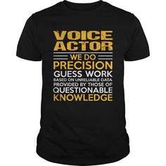 VOICE ACTOR T-Shirts, Hoodies. VIEW DETAIL ==► https://www.sunfrog.com/LifeStyle/VOICE-ACTOR-114978254-Black-Guys.html?id=41382