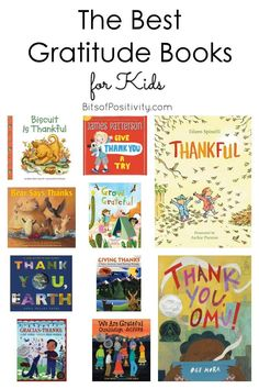 Recommendations of favorite gratitude books for kids for a gratitude unit … or just to focus on gratitude. Books for Thanksgiving as well as gratitude books for any time - Bits of Positivity Best Toddler Books, Best Children Books, Books For Kids, Childrens Books, Gratitude Book, Showing Gratitude, Pre-school Books, Good Books, Montessori Books