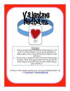Valentine Hedbanz Game