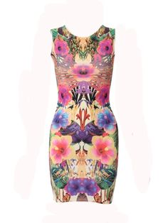 #CLOTHING CLOSETT PLACEMENT PRINT BODYCON DRESS by rubyredboutique.co.uk for £22.00