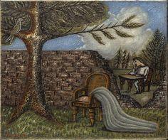 CECIL COLLINS - THE SECRET, 1943, oil on canvas, 25.4 x 30.5 cm