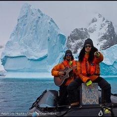 Jason Mraz and Mona Tavakoli in Antarctica