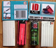 Review  Giveaway of IDME ~ Kids Safety Wristbands
