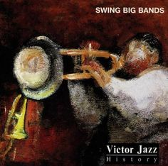 1996 Victor Jazz History Vol.8: Swing Big Bands [RCA 74321285622] cover painting by Alice Choné #albumcover
