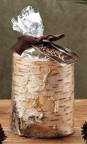 Unique Birch Bark Mountain Scented Pillar Candles