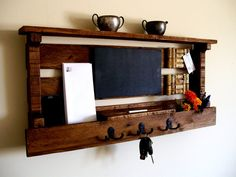 Mail Organizer / Key Rack / Coat Rack / Hat Rack / by TheVineyards, $79.00