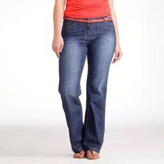 """Jeans bootcut stretch """"Curve"""" lung. interioara 73 cm. Denim stretch 99 % bumbac, 1 % elasthanne. Daca aveti pana in 1m65 : lungime interioara 73 cm.  209.00 LEI -30% 146.30 LEI"""