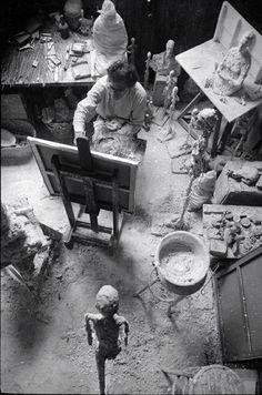 Giacometti Painting in His Studio, 1965. By Michael Peppiatt.