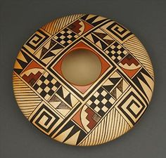 "Pottery seed pot by Dee Johnson Setalla (Hopi) $2,000.00.  Dee Johnson Setalla was born in 1963 and is a member of the Bear Clan. He started making pottery around the age of six and was taught by his mother Pauline Setalla and his paternal aunt ""Fawn"" Navasie."