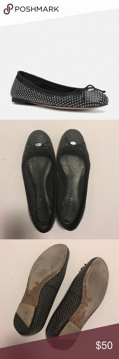 Florabella Coach Studs Flats In a great condition! Rows and rows of mini studs update a classic ballets with industrial edge. Leather, leather sole. Coach Shoes Flats & Loafers