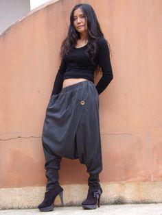 Harem Pants ...Unisex Pants ...Pants ...Color Grey by Ablaa