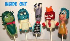Disney Inside Out Cake Pops