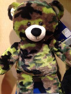 Camo bear at build a bear 2014:: Rad would love this!!!!