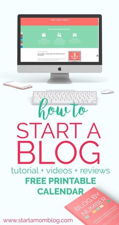 Start a Blog in 3 Easy Steps with SiteGround and Wordpress - How to start a blog and make money from home. You can make a profitable money making blog with these tutorials, videos and free printable calendar. Start your successful blog today.