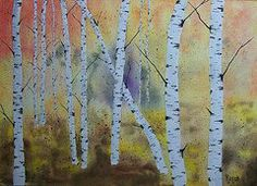 Autumn Birch - Corks and Canvas