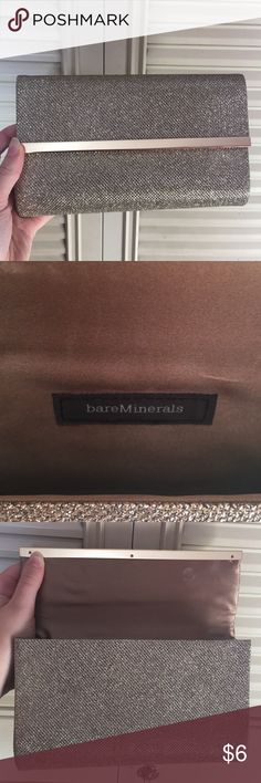 """NEW Bare Minerals Makeup Bag Dimensions are 9"""" x 5"""", perfect condition except a small spot on back depicted in last picture. Bare Minerals Makeup"""