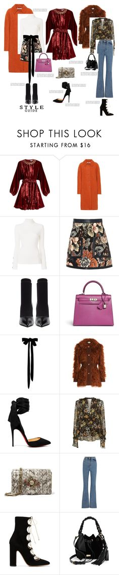 """LOD: Holiday Style!"" by beautymanifesting ❤ liked on Polyvore featuring Rhode Resort, Marni, See by Chloé, STELLA McCARTNEY, Balenciaga, Hermès, Isa Arfen, Christian Louboutin, Robert Rodriguez and Gucci"