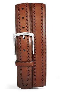 Free shipping and returns on Allen Edmonds 'Manistee' Brogue Leather Belt at Nordstrom.com. Brogue detailing defines a handsome leather belt with a polished buckle.