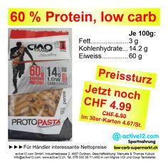 60 % Protein, low carb, PROTOPASTA CiaoCarb Penne, 250 g, ►►►PREISSTURZ von CHF 6.90 auf CHF 4.99! Im 30er-Karton noch CHF 4.67/Beutel. #PROTOPASTA #CiaoCarb #Penne #lowcarb #lowcarbs #lowcarbschweiz #fitness #fitnessschweiz #highprotein #Muskelaufbau #Bodybuilding #abnehmen #abnehmenschweiz #fitness #fitnessschweiz #active12 #natural ►►► Bestellbar ab Lager Dulliken bei Olten hier: http://www.active12.ch/Spezialnahrungsmittel/Teigwaren--low-carb-/PROTO-PAST-Penne-Ciaocarb.html