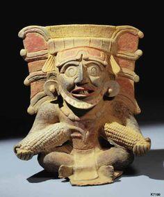 Dios del maíz, Maya.